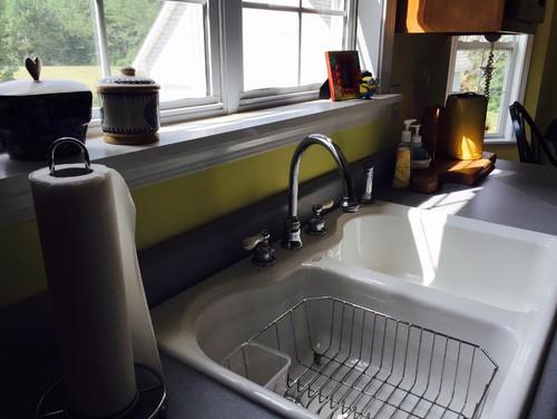 undercounter kitchen sink hand grinder drop in and granite countertops