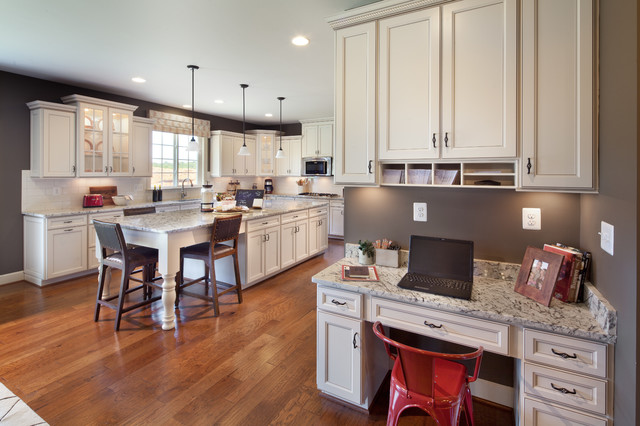 kitchen desk cabinet refinishing kit 8 and nook designs to keep your family organized traditional by stanley martin homes