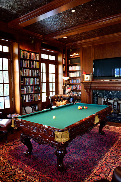 Charleston Row Billiard Room  Traditional  Living Room
