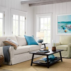 Accent Living Room Chairs With Arms Recliner Chair Harborside Slipcovered Apartment Sofa - Beach Style Chicago By Crate&barrel
