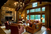 Mountain Living-Rocky Mountain Homes - Rustic - Living ...