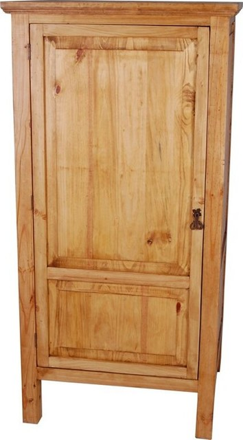 Mexico Freestanding Kitchen Cabinet  Rustic  Pantry