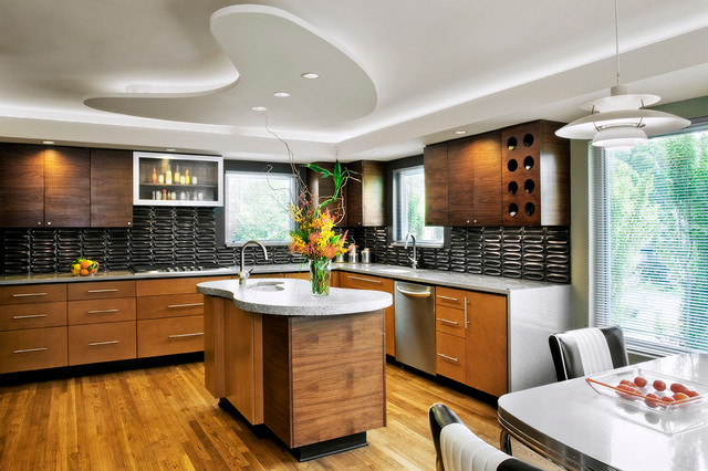 artificial house plants living room decorated concrete - modern kitchen austin by mark lind ...