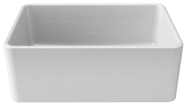 27 kitchen sink modular cabinets latoscana reversible fireclay farmhouse contemporary