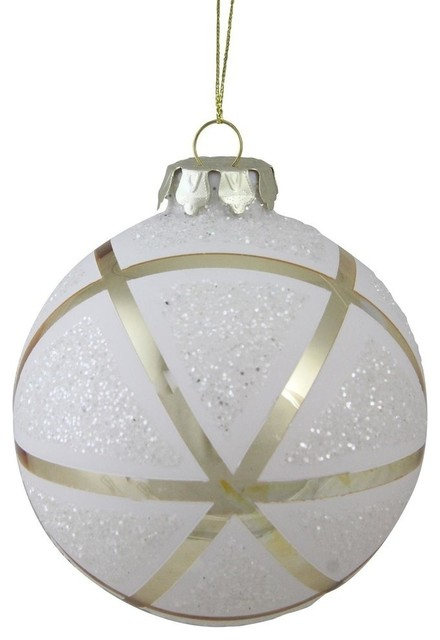 Gold And White Christmas Ornaments
