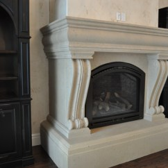 Living Room Decorating Ideas With Stone Fireplace Chair In Custom Cast Mantel Surrounds - Traditional ...