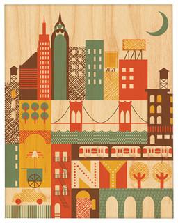 "New York, Small Unframed, 8""x10"""