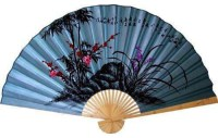 Soft Blue Poem Asian Wall Fan - Asian - Home Decor - by ...