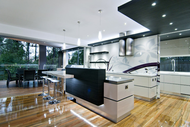 chrome dining chairs australia american girl salon chair kitchen design - modern brisbane by kim duffin for sublime architectural ...