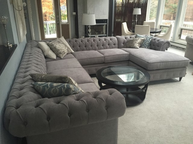 KENZIE STYLE  Chesterfield Custom Sectional Sofas  Family Room  Los Angeles  by Monarch Sofas