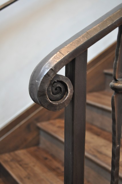 Stair Rail Volute Detail  Traditional  Staircase