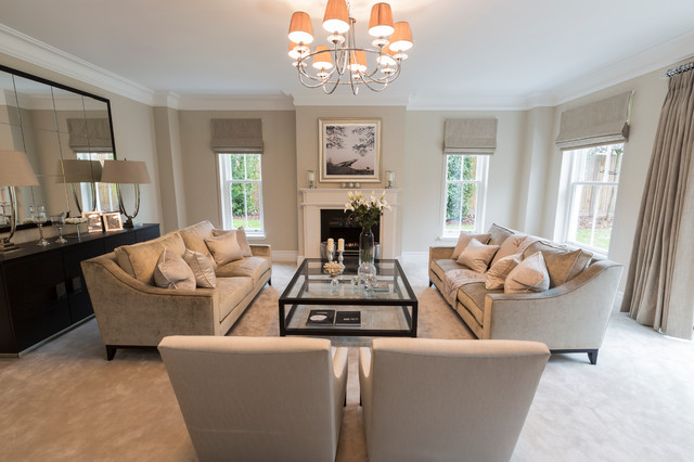 gray and taupe living room small cottage rooms set home design ideas sunningdale berkshire transitional surrey by