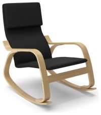 Aquios Bentwood Contemporary Rocking Chair, Midnight Black ...