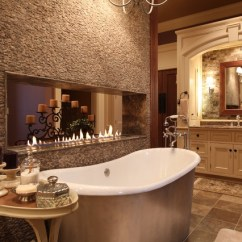 Wooden Floors In Living Rooms Room Ideas With 2 Loveseats Luxury Master Bath Freestanding Tub And Fireplace ...