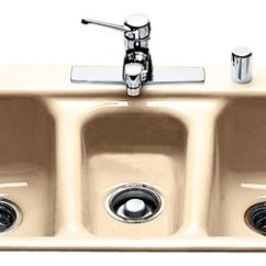 Triple Kitchen Sink Bar Stools Bowl Self Rimming Contemporary Sinks By Ceco