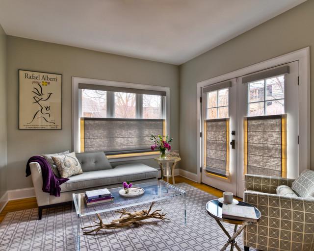 Chicago Interior Design Gray Sitting Room