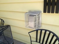 Gas Fireplace exterior vent - can I paint the protective cage?