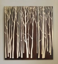 Hand-Carved Birch Forest Panels - Artwork - by VivaTerra
