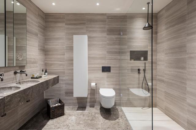 A Warm Modern Master Ensuite - Contemporary - Bathroom ...