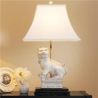 White Foo Dog Table Lamp - Asian - Table Lamps - by Shades ...