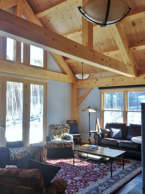 wood side tables living room selecting paint colors for timber frame addition to a log cabin in vermont ...