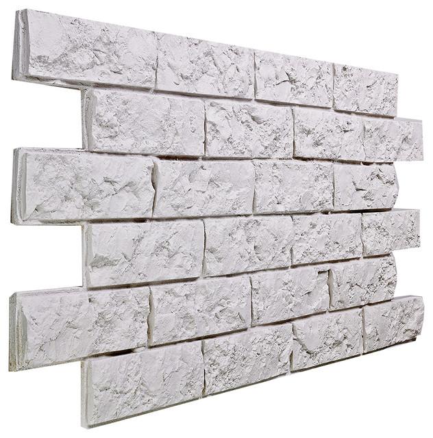 Peel And Stick 3d Wall Panels White Brick Wallpaper Small Jerusalem Brick Wall Panel Almond Traditional