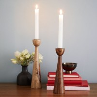 Modern Wooden Tapers - Midcentury - Candleholders - by ...