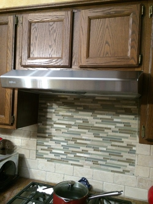Can satin nickel hardware be used on dark oak cabinets