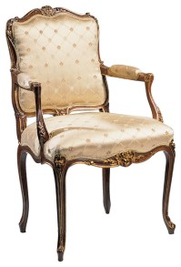 Louis Xv-Style Upholstered Armchair - Victorian - Dining ...