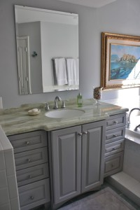 Bathroom - Kraftmaid Marquette Door Style & Maple Pebble ...