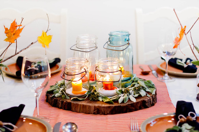 Winter Tablescape dining-room