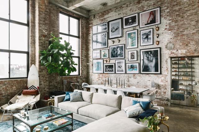 Industrial Brooklyn Loft industrial-living-room