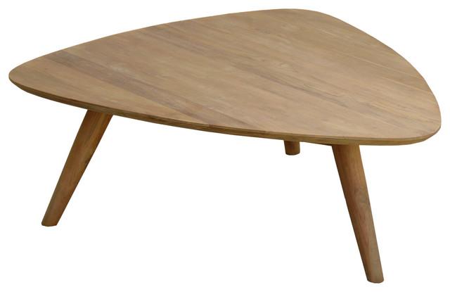recycled teak wood retro coffee table