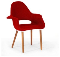 Onyx Modern Forza Red Twill Midcentury-style Accent Chair ...
