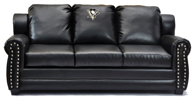 leather sofas chicago area friheten sofa bed pittsburgh penguins coach - transitional ...