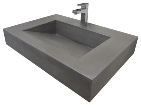 30quot Vallum Concrete Sink Contemporary Bathroom Sinks