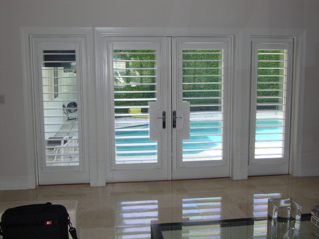 Plantation Shutters  Traditional  Entry  Miami  by