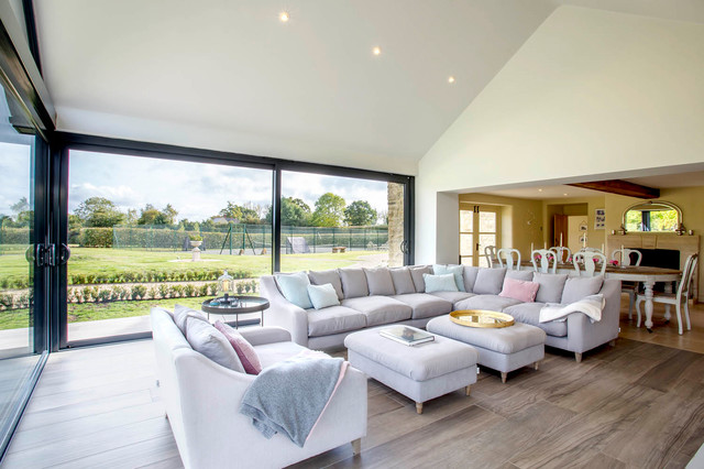 Open Plan Living Dining Room Extension Country Living Room Wiltshire By Fowler Architecture Planning Houzz Uk