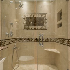Kitchen Sinks For Sale Free Cabinet Plans Greek Key Marble Bathroom - Traditional ...