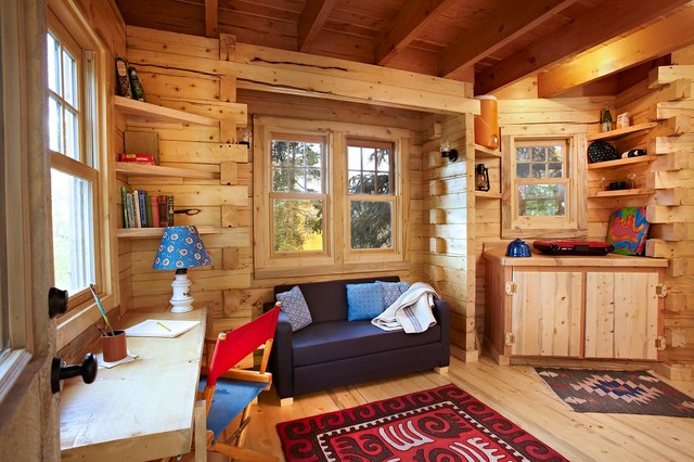 Colorado Treehouse Rustic Home Office Denver By Missy