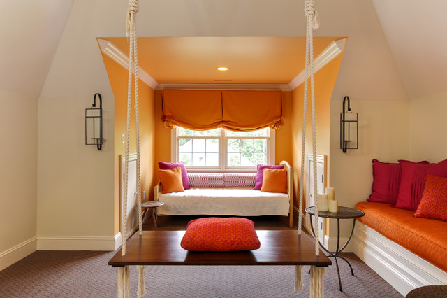 Gathering Room With Indian Swing  Transitional  Family Room  Raleigh  by Otrada LLC