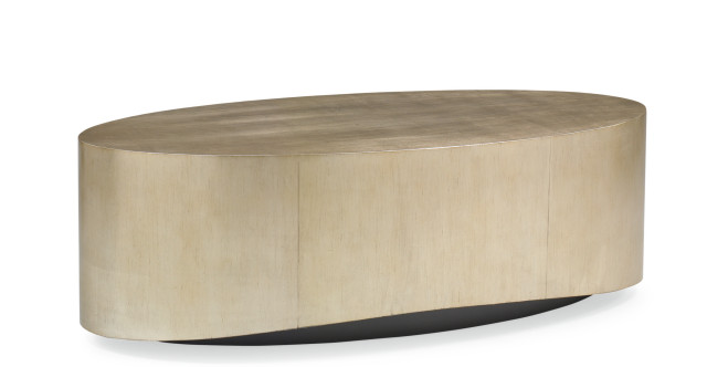 come oval here contemporary gold silver oval cocktail table