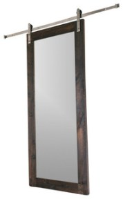 Modern Mirror Barn Door, 7'x3'