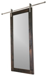 Modern Mirror Barn Door - Modern - Interior Doors - by ...