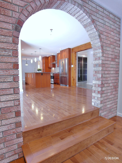 Brick Arch House Traditional Family Room Ottawa By 7j