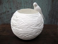 Nest Pillar Lamp with Swallow