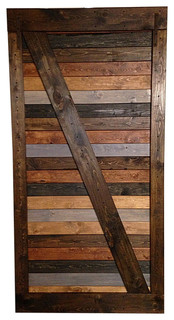 Handmade Barn Door, Multicolor