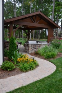 Cary outdoor living room - Traditional - Patio - Raleigh ...