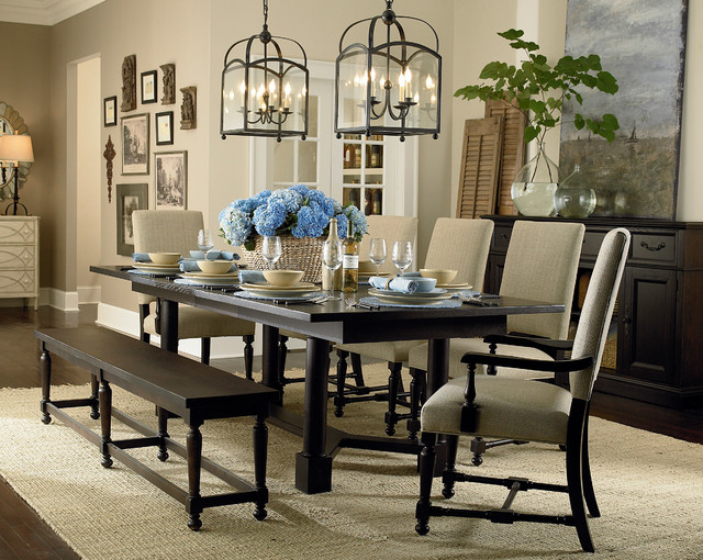 Custom Turned Post Dining Table by Bassett Furniture  Contemporary  Dining Room  Other  by