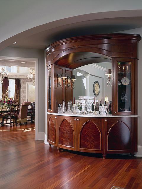 Dining Room Bar Cabinet  Traditional  Dining Room